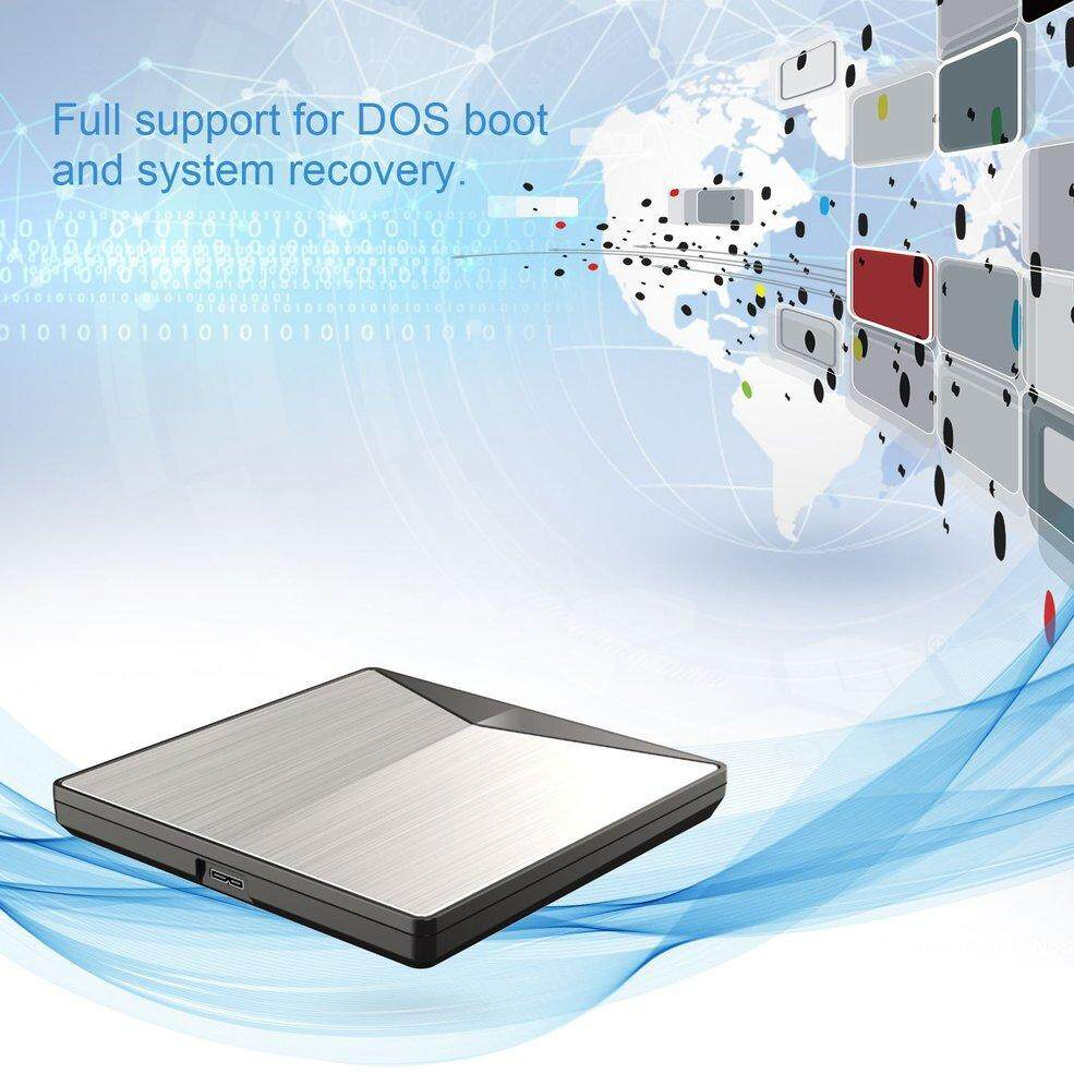 Portable Ultra-slim External DVD Drive USB3.0 Drive for PC for Mac DVD + Rewritable DVD/CD RW Writer Recorder Burner