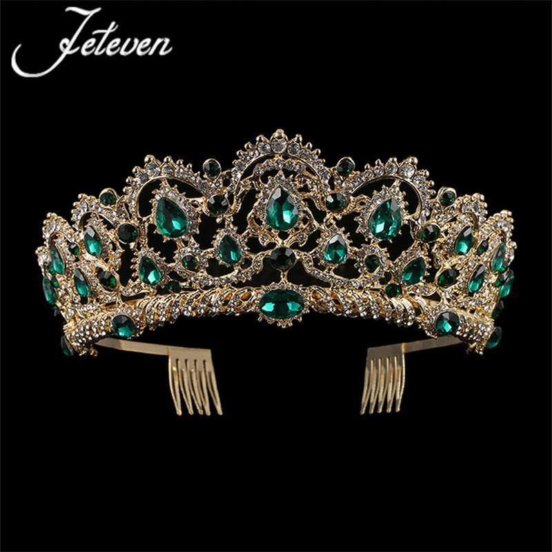 Baru Mahkota Jewels dengan Mahkota Korea Selatan Air Berlian Pernikahan Mahkota Populer Pengantin Mahkota Pernikahan Gaun Aksesoris internasional