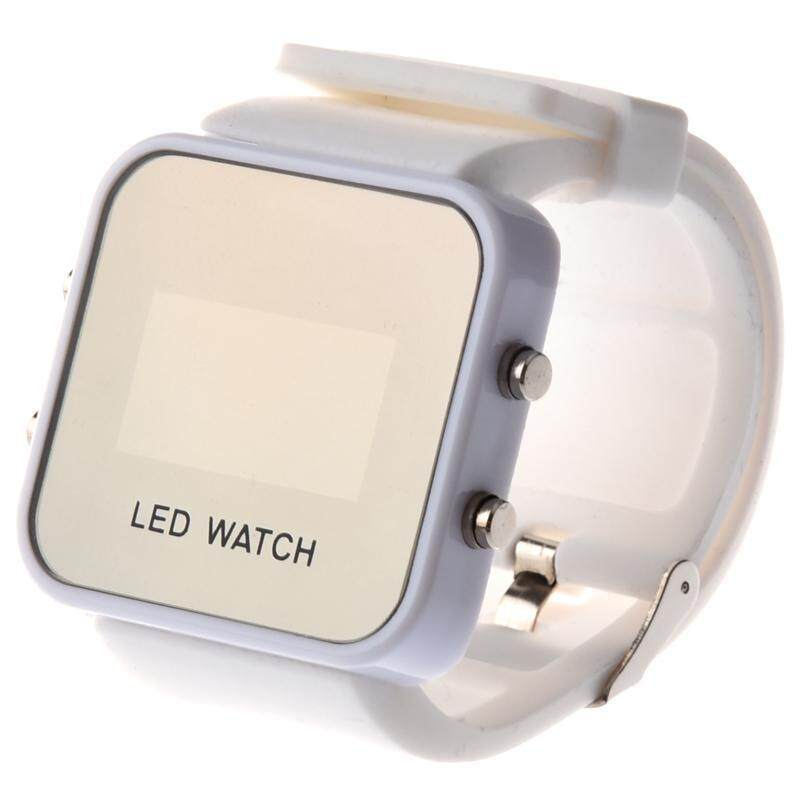 Mirror Men Lady LED Digital Sport Unisex Watch Gift Jelly(Only White Now) Malaysia