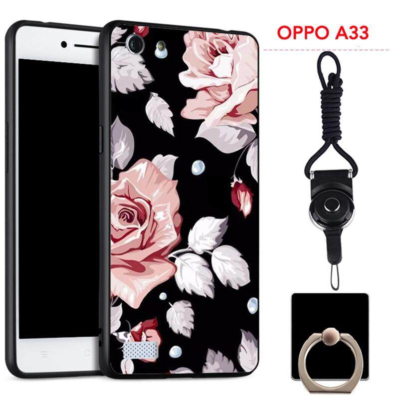 For OPPO A33/NEO 7 Silica Gel Soft Phone Case With Ring And String