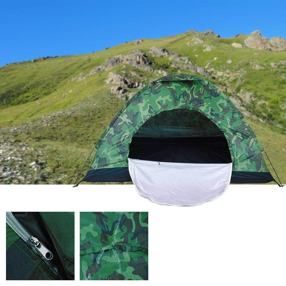 Double single layer camouflage tent