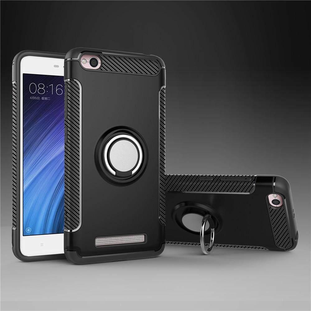 Untuk Xiaomi Redmi 4A Case Luxury Magnetic Armor Casing Pelindung Silikon Cincin Logam Wadah Sarung