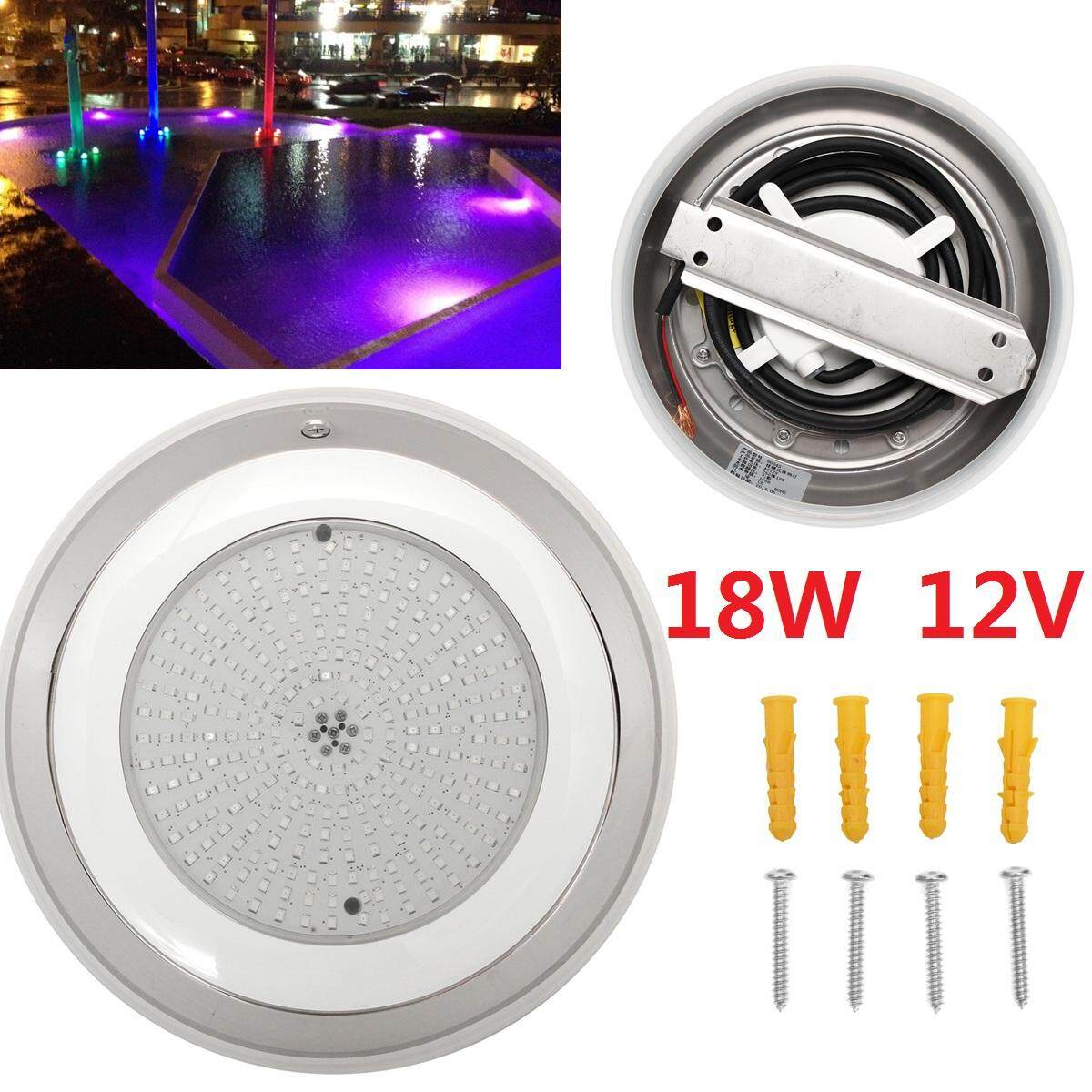 Stainess 100% Resin filled led swimming pool lights 18W RGB multi-color 12V - intl