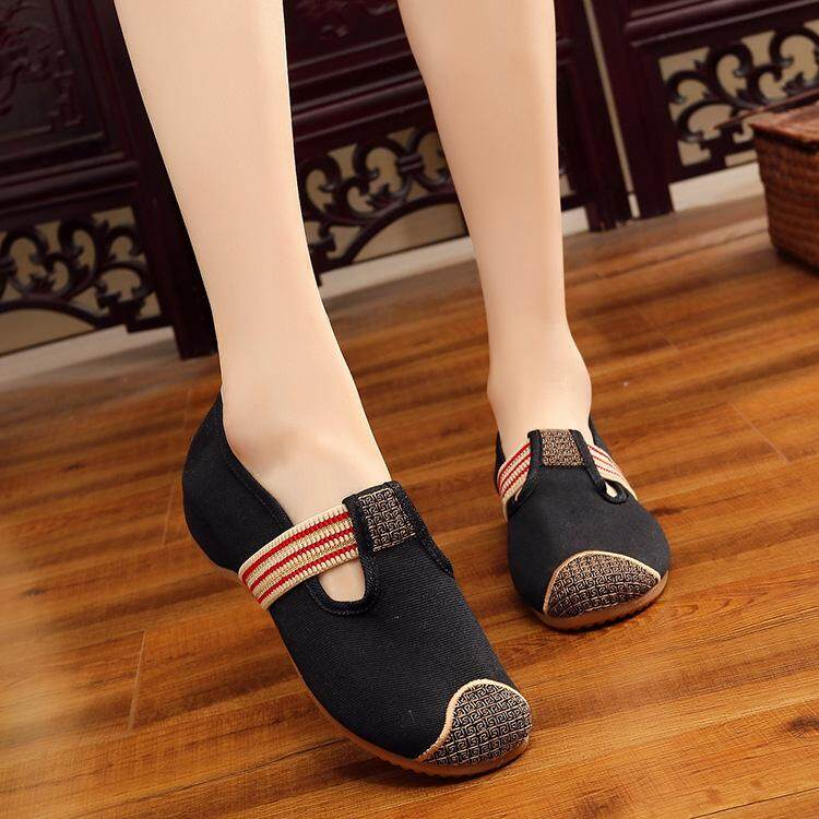e941dd1c786b 2019 Summer New Products of Edition song jin kou Upgrade Thick Thin Sole  Embroidery Cloth Shoes