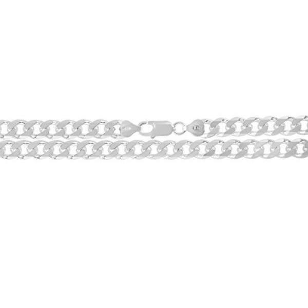 KEZEF Creations 9mm 925 Sterling Silver Cuban Curb Link Chain Bracelet 9 inch - intl