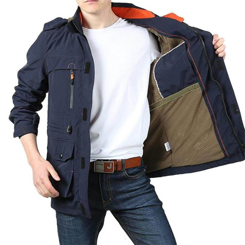ZZOOI Afs Jeep Brand Clothing Bomber Jacket Men Autumn Winter Multi-pocket  Waterproof Military Tactical a4683c9a12
