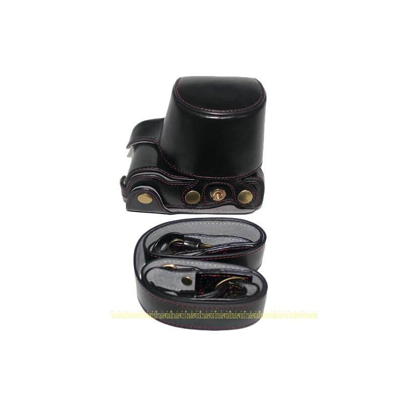 Mewah Kulit Tas Kamera Case untuk Sony ILCE-5100L ILCE-5000L A5100 A5000 dengan 16-50 Mm Lensa