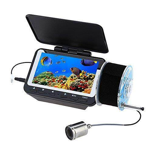 Eyoyo 4.3 inch LCD Monitor Fishing Camera Fish Finder,15m Portable Underwater Ice fishfinder with Infrared IR Led Lights and Sun-visor can be Fix on rod.