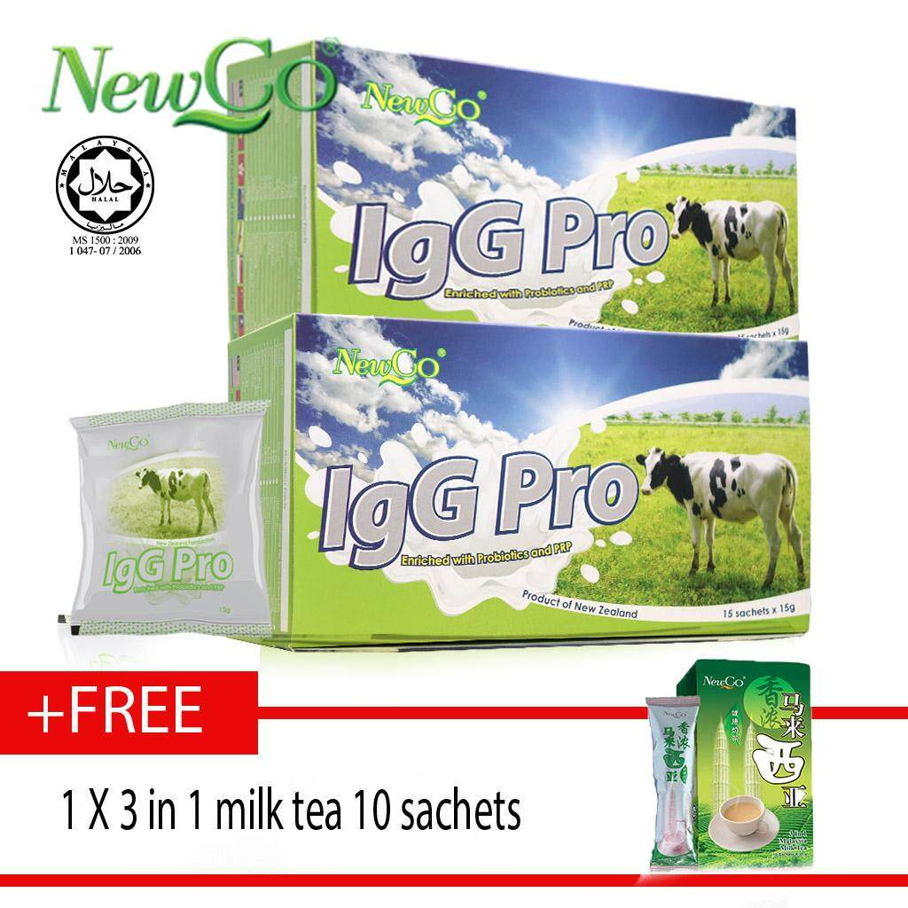 Newco IgG Pro Colostrum With Probiotic X 2 Free 1 X 3 in 1 milk tea 10 sachets