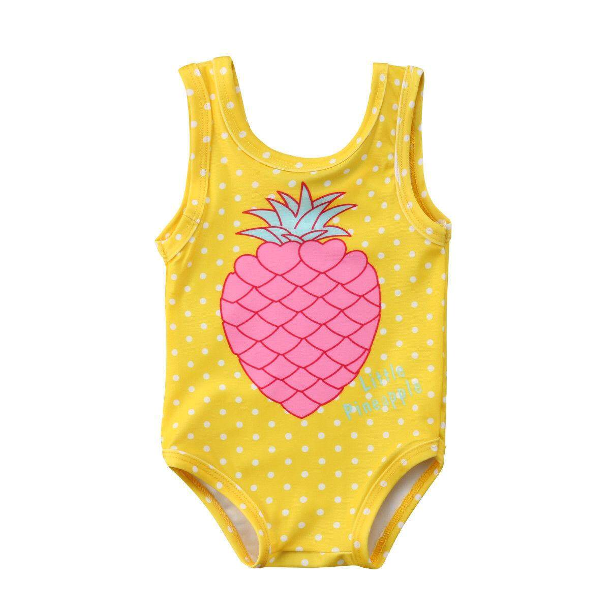 15db4b1da771 2018 New Cute Kids Girl Pineapple Fruit Swimwear Children Girls One pieces Bathing  Suits Toddler Swimsuit