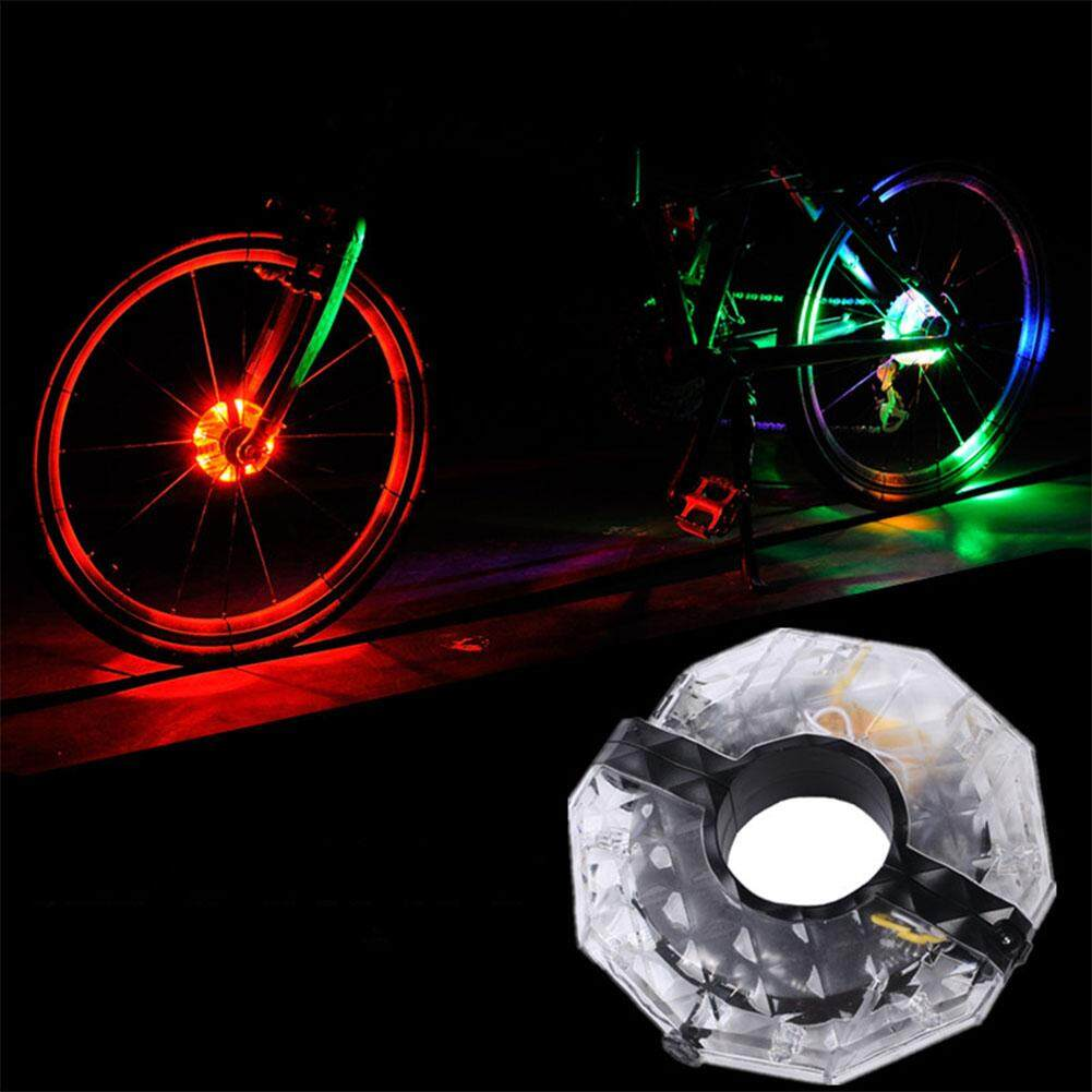 LumiParty Bicycle Cycling Hubs Light Bike Led Spoke Wheel Light USB Charging 4 Colors Bike Accessories