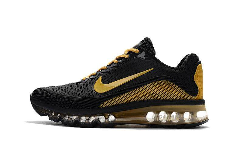 NIKE Original 2017 AIR MAX Mens Breathable Running Shoes Fashion Sneakers Black Golden