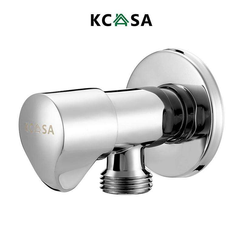 KCASA Brass Switch Water Knockout Trap Two Way Angle Valve Kitchen Bath Water Diverter Accessories