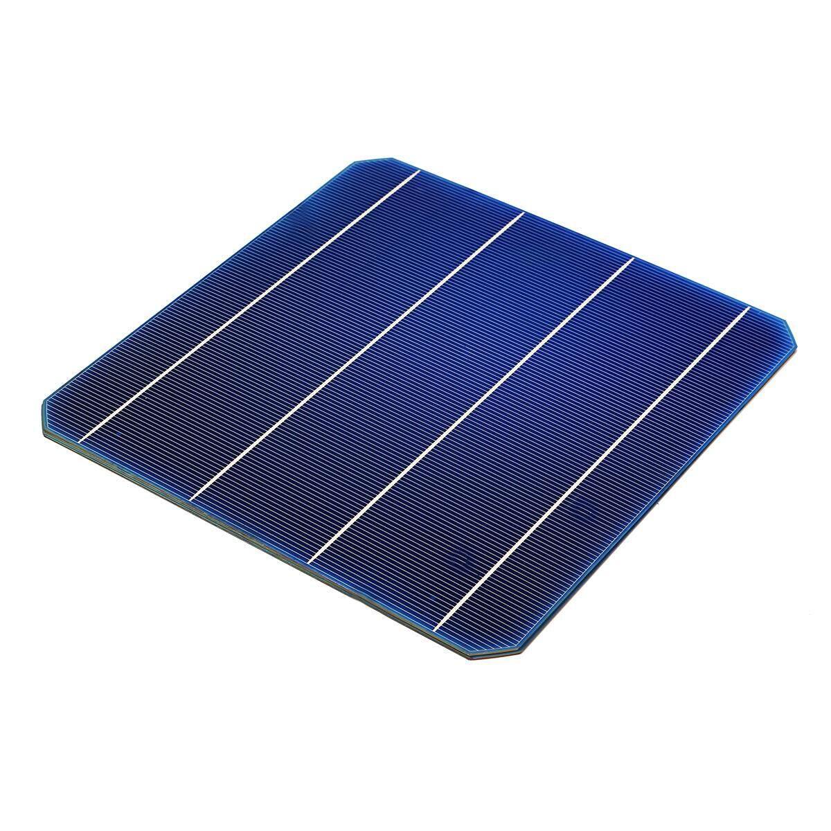 156 mét Monocrystalline Các Tế Bào Năng Lượng Mặt Trời 6x6 Với Bus Tabbing Dây Cho DIY Tấm Pin Năng Lượng Mặt Trời