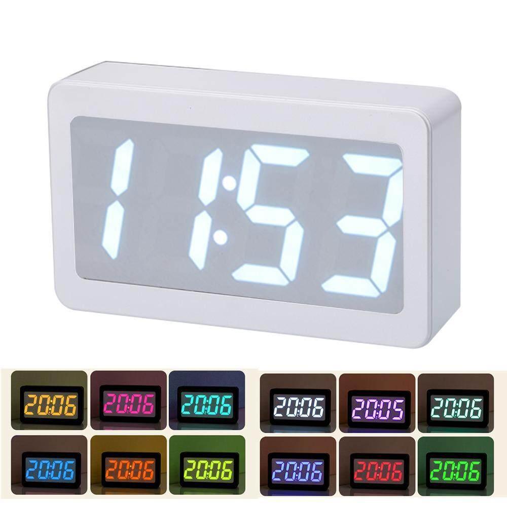 GoodScool Creative Colorful Color Electronic Alarm Clock Calendar LED Digital Clock Full Color Silent Table Clock