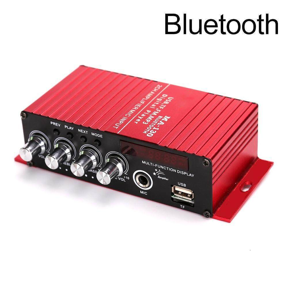 niceEshop Mini Amplifier Bluetooth 4 2 Digital 2 Channel 20W HiFi Amp Super  Bass With Blue LED Indicator DC 12V 2A For Home Car