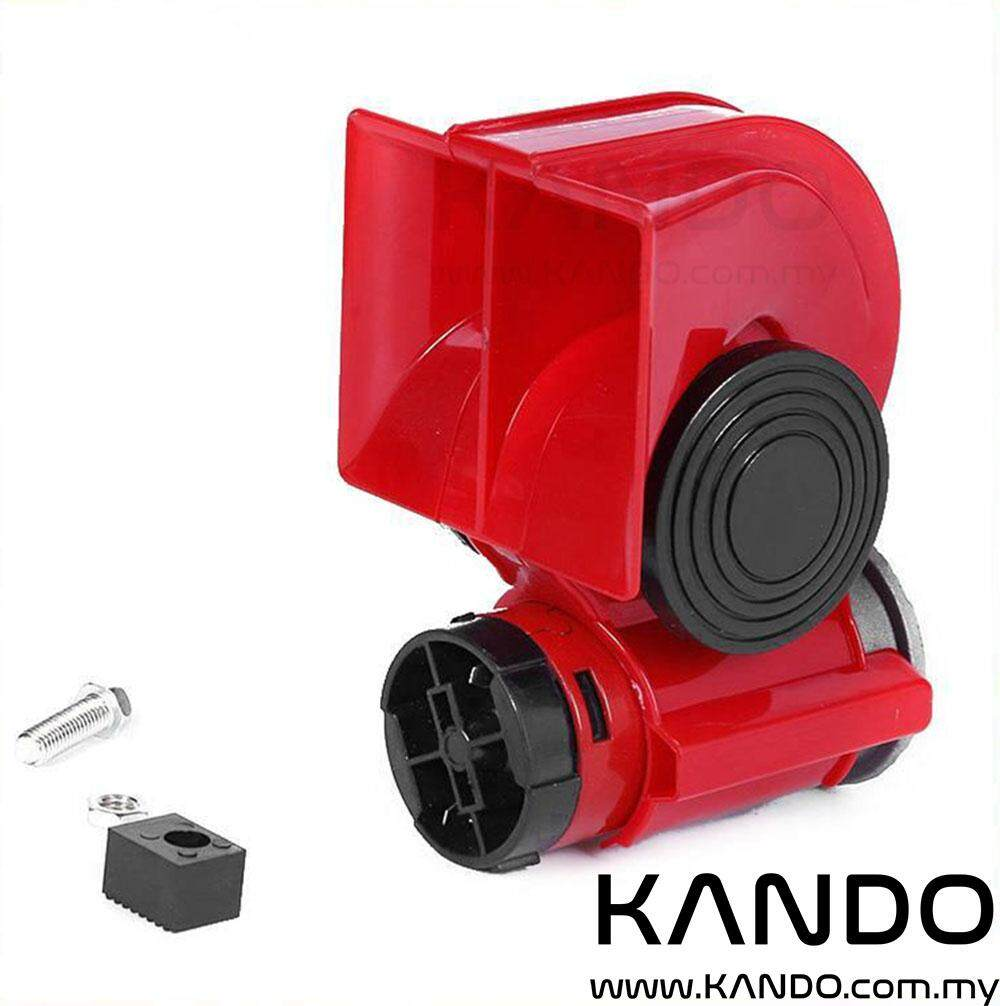 [MALAYSIA]12V Nautilus Compact Air Horn Twin Tone Horn with Compressor Car  Horn Lorry Horn Bike Horn with Pump Nautilus Compact 12V Air Horn