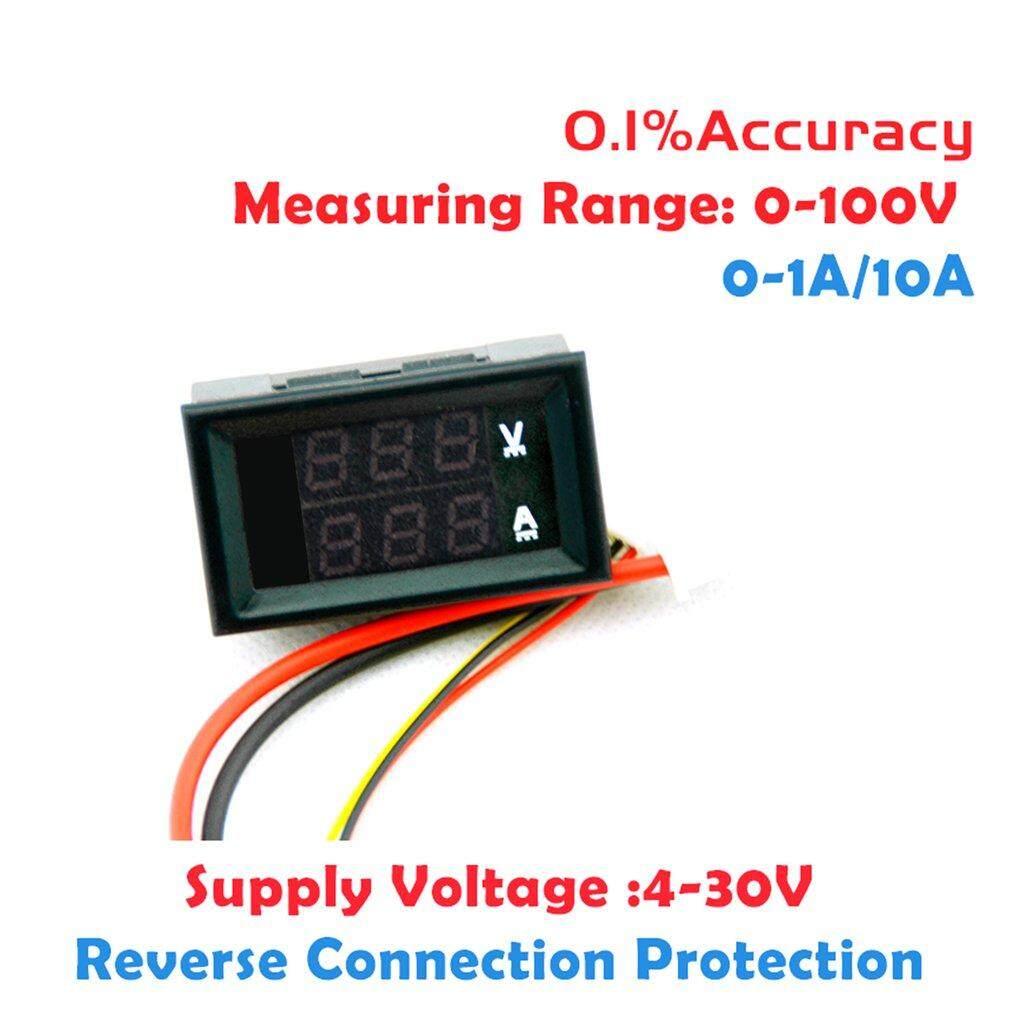 Kelebihan 100v 10a Dc Digital Voltmeter Ammeter Blue Red Led Amp Warna Biru Dan Merah Dengan Dual Volt Meter Gauge 5