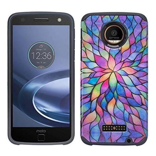 Smartphone Case S Case S XYZ Moto Rola Moto Z Bermain Droid Case 2016 (Verizon Wireless) dual Layer Desain Perlindungan SPG Hybrid Sampul Ramping XYZ (Rainbow Pedal Mini Hybrid)-Intl