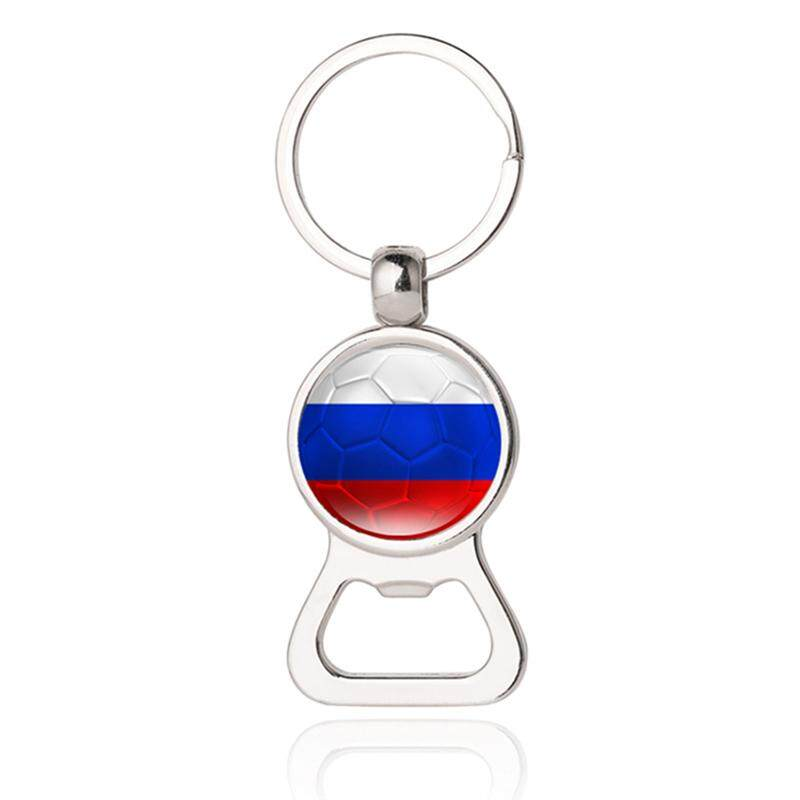 Airforce 2018 World Cup Creative Football Keychain Flag Trophy Beer Bottle Opener Keyring For Soccer Fans Souvenir Gift - intl