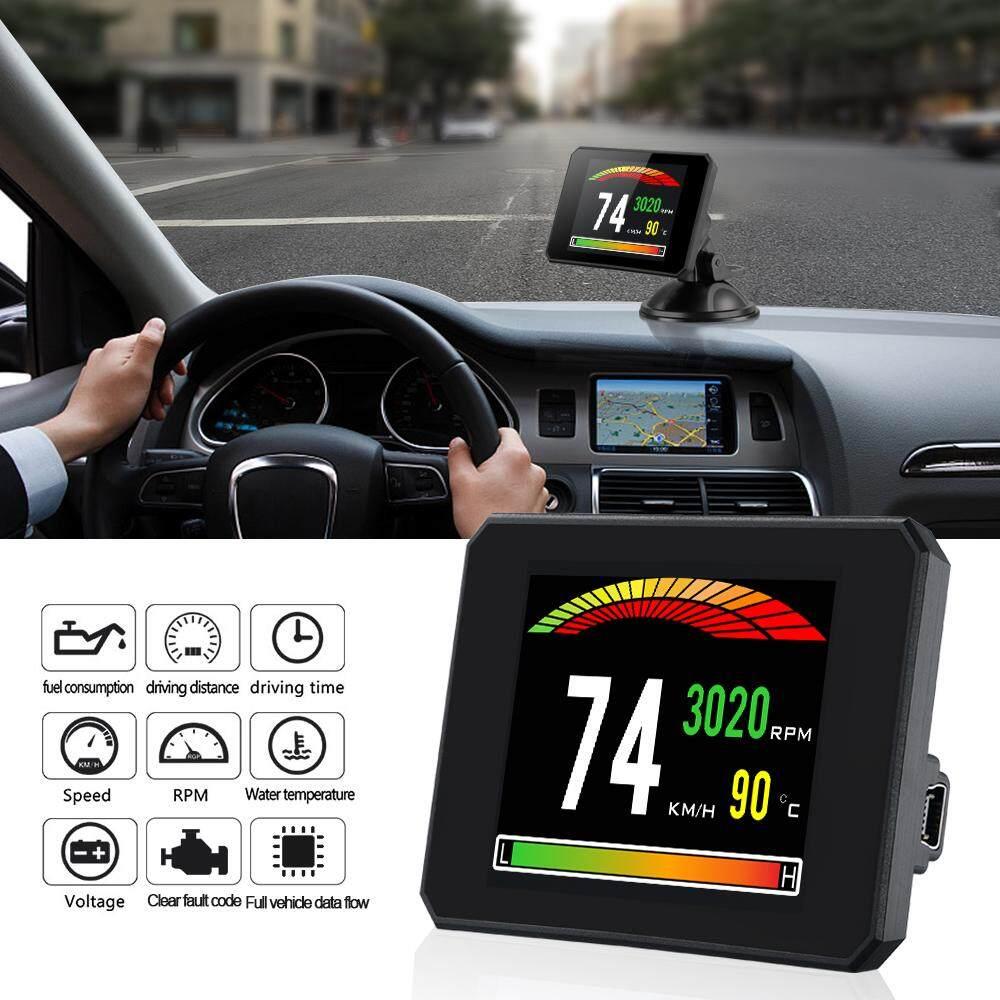 RD TFT OBD Head Up Display Digital Car Speed Projector On-Board Computer OBD2 Speedometer Windshield Projector