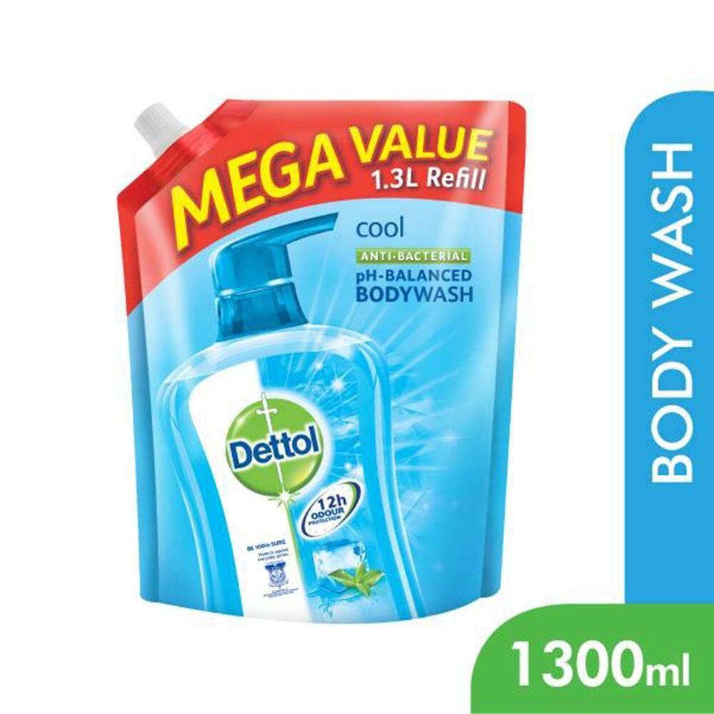Dettol Body Soap Shower Gel Cool 1300ml Detol Bodywash