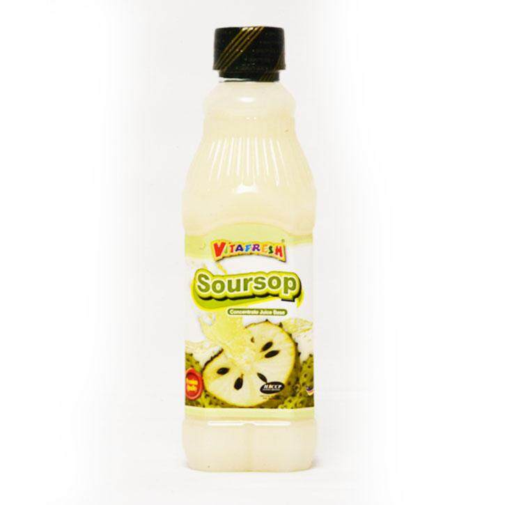 Fresh Soursop cordial drink