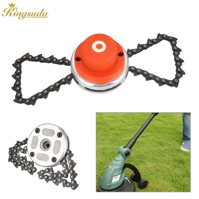 Kingsuda Mower Chain Trimmer Head Professional Universal Metal 65Mn Chain