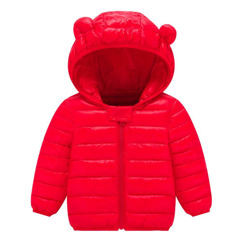 Docesty-Chlidren Boys Girl Winter Coats Jacket Kids Zipthick Ears Snow Hoodie Clothes By Docesty