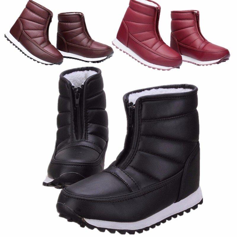 New Women Men Unisex Winter Snow Ski Boots Waterproof