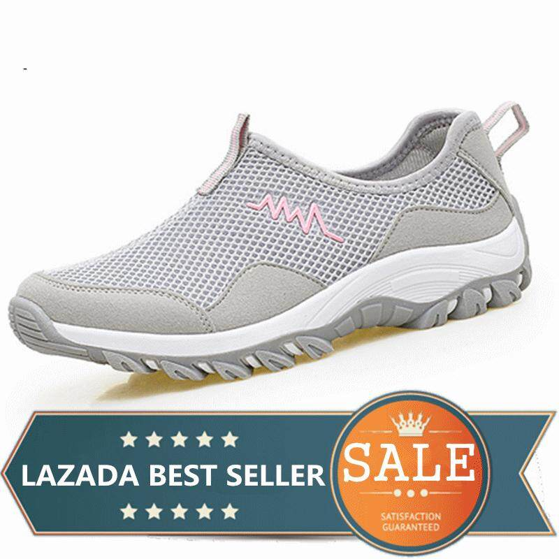 Men And Women Outdoor Hiking Sneakers Shoes Wading Upstream Breathable Mesh (grey) By Taishanzhishi.