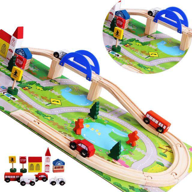 Wooden Rail Overpass Toys for boys