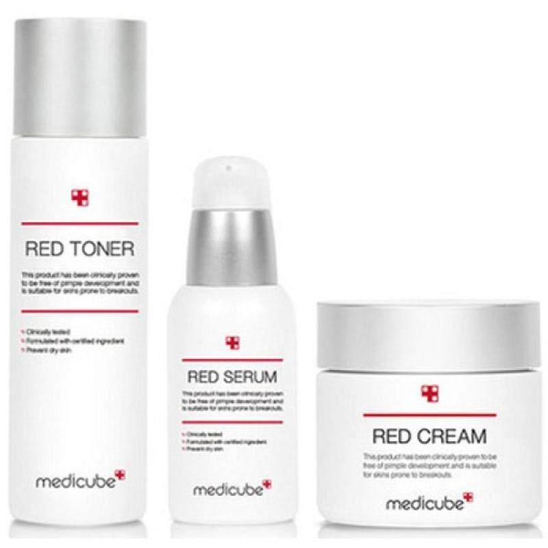 Buy [Medicube] 2018 Renewal Red Line Toner & Serum & Cream SET / K-BEAUTY - intl Singapore