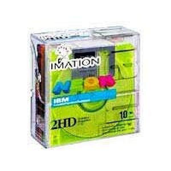 Media Kosong Imation 3.5 DS-HD IBM PC Diformat (Warna Neon, 10-Pack) (Dihentikan Oleh Produsen) -Intl