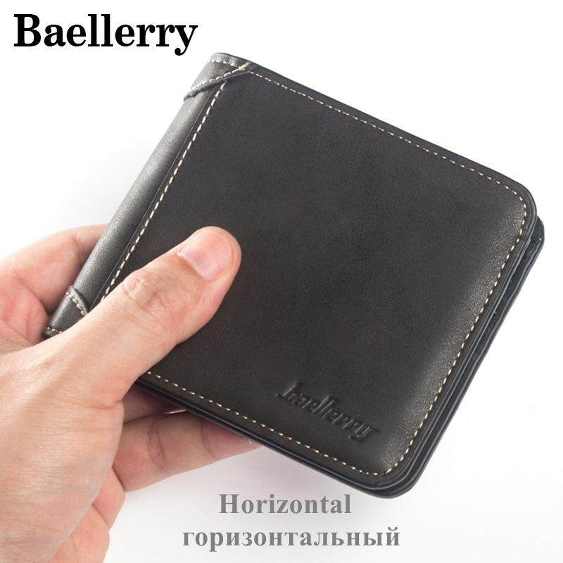 Baellerry High Quality Wallet Men Leather Wallets Vintage Male Wallet Three Hold Purse For Men Short