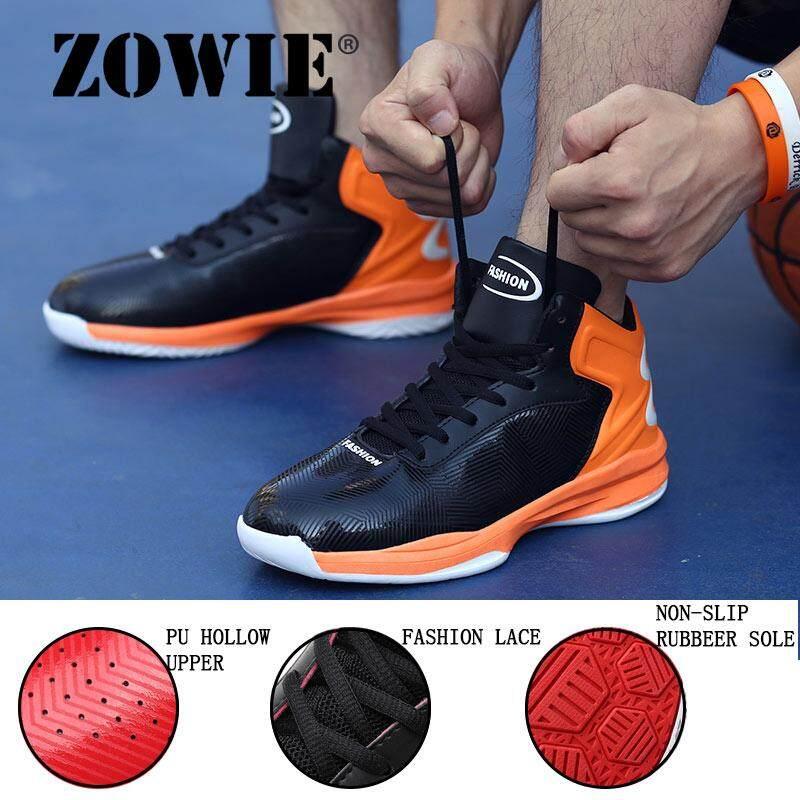 Zowie Pria Basketballe Shoesthe Baru Sneakers untuk Pria Tinggi Bot Peredam Sepatu Olahraga Bermerek untuk Junior