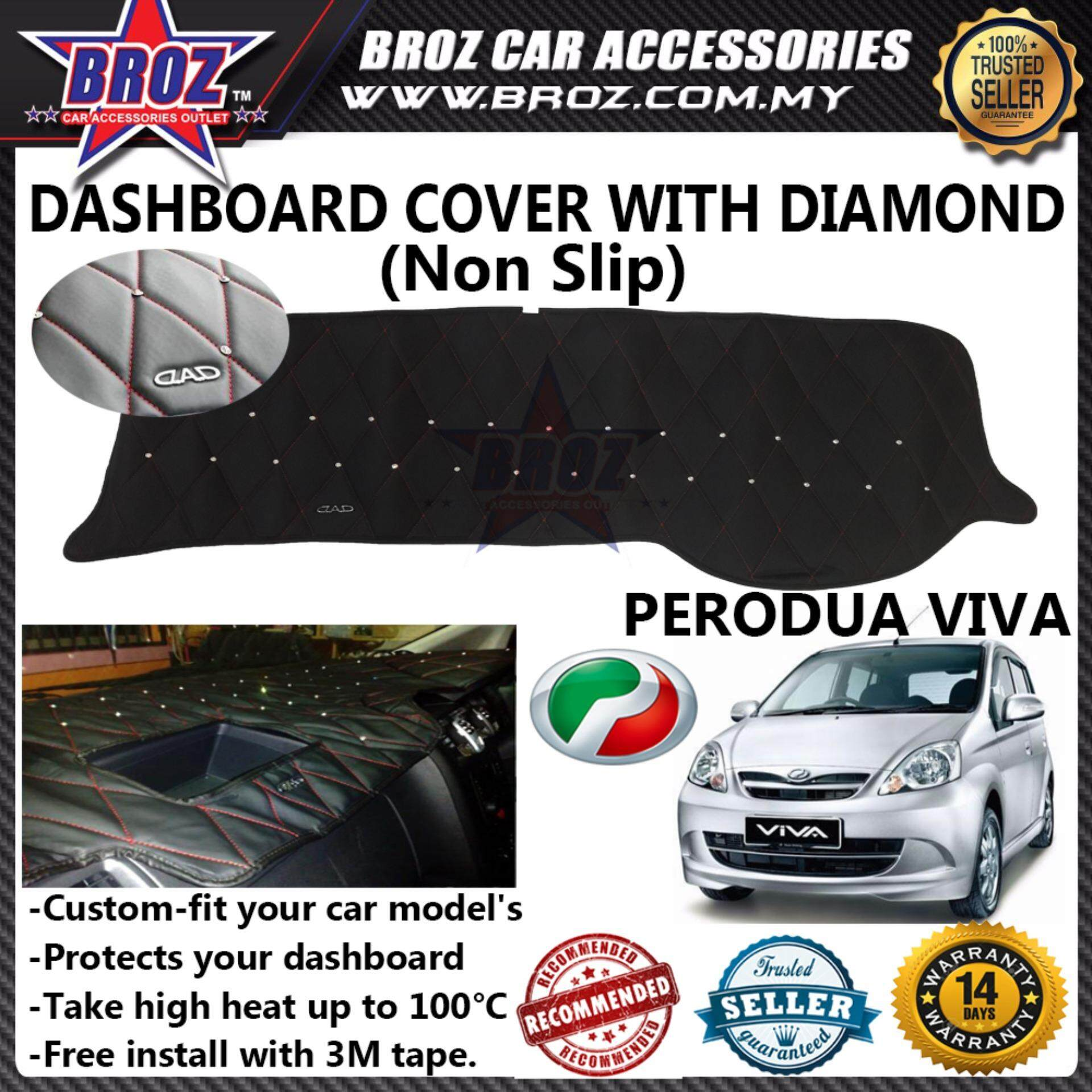 Non Slip Dashboard Cover with diamond for Perodua Viva