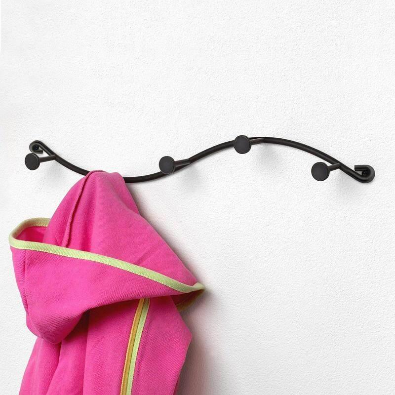 KCASA BR-03 Utility 5 Hooks Single Iron Household Storage Hook Rack Key Coat Towel Wall Hook Rack
