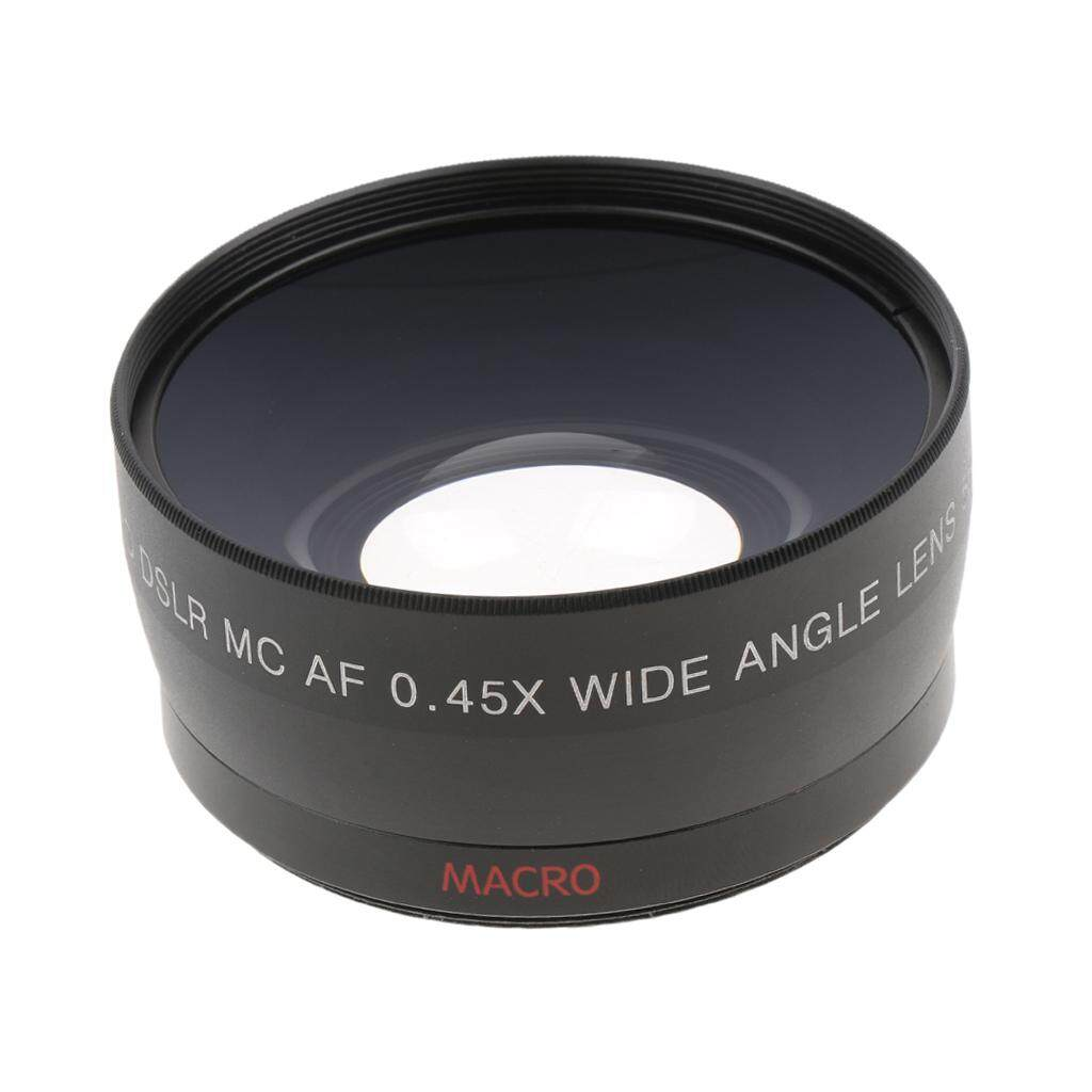 Miracle Shining 58mm 0.45x Wide Angle + Macro Lens for Canon Nikon Sony Pentax DSLR Cameras