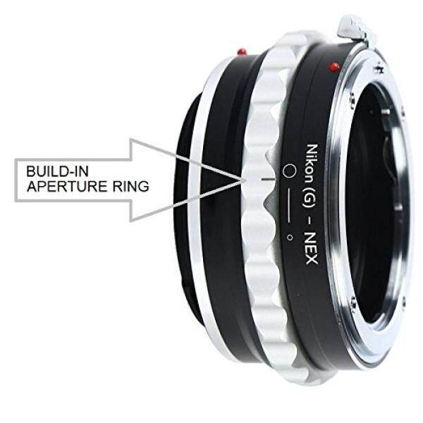 Adapter To Convert Nikon F-Mount D, G-Type Lens To E-mount For Alpha Sony a7, a7S, a7IIK, a7II, a7R II, a6500, a6300, a6000, a5000, a5100, a3000 Mirrorless Digital Camera - Build-In Aperture Ring