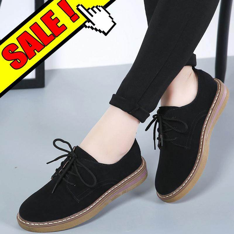 YEALON Fashion Women Shoes Flat Shoes For Women Oxfords Lace-Ups Shoes For Women Casual
