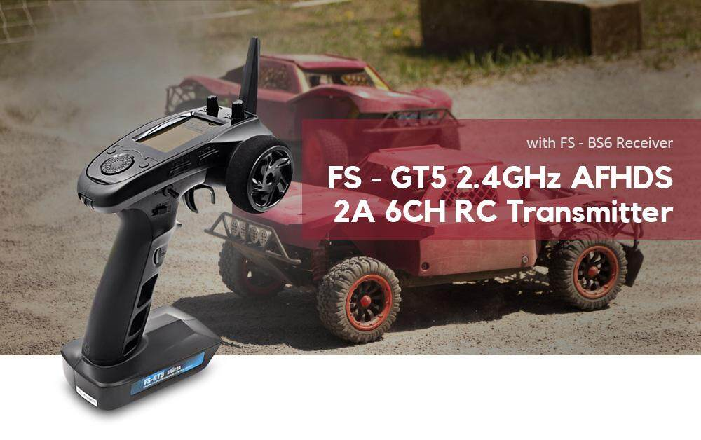 Flysky FS - GT5 6CH AFHDS RC Transmitter with FS - BS6 Receiver for RC Model