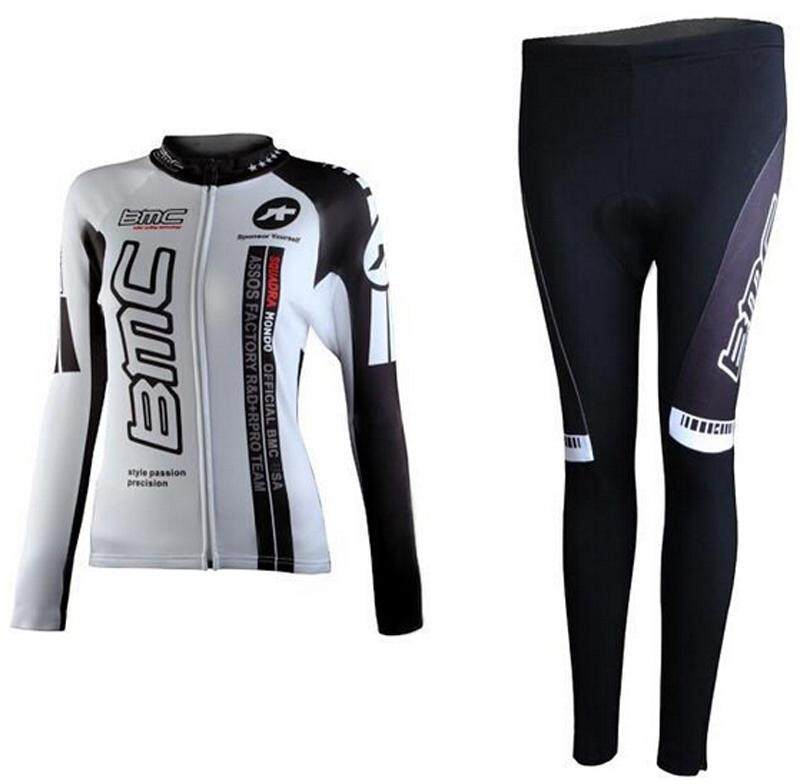 fdd38fc205d YOUPIN Women Classic Cycling Jersey Winter Thermal Bike Top + Bib Tights Set