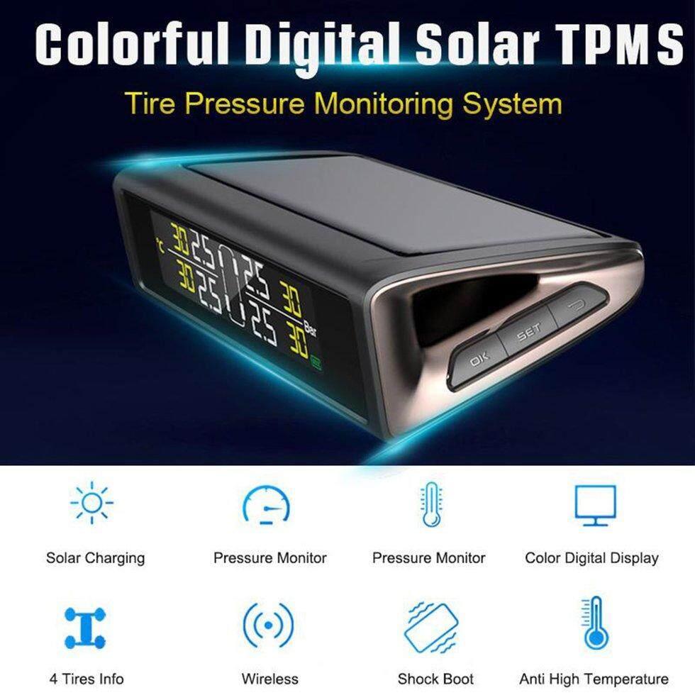 Mobil TPMS Surya Internal/Eksternal Sensor Roda Tekanan Monitor Nirkabel Pemantau Tekanan Ban Sistem Alarm