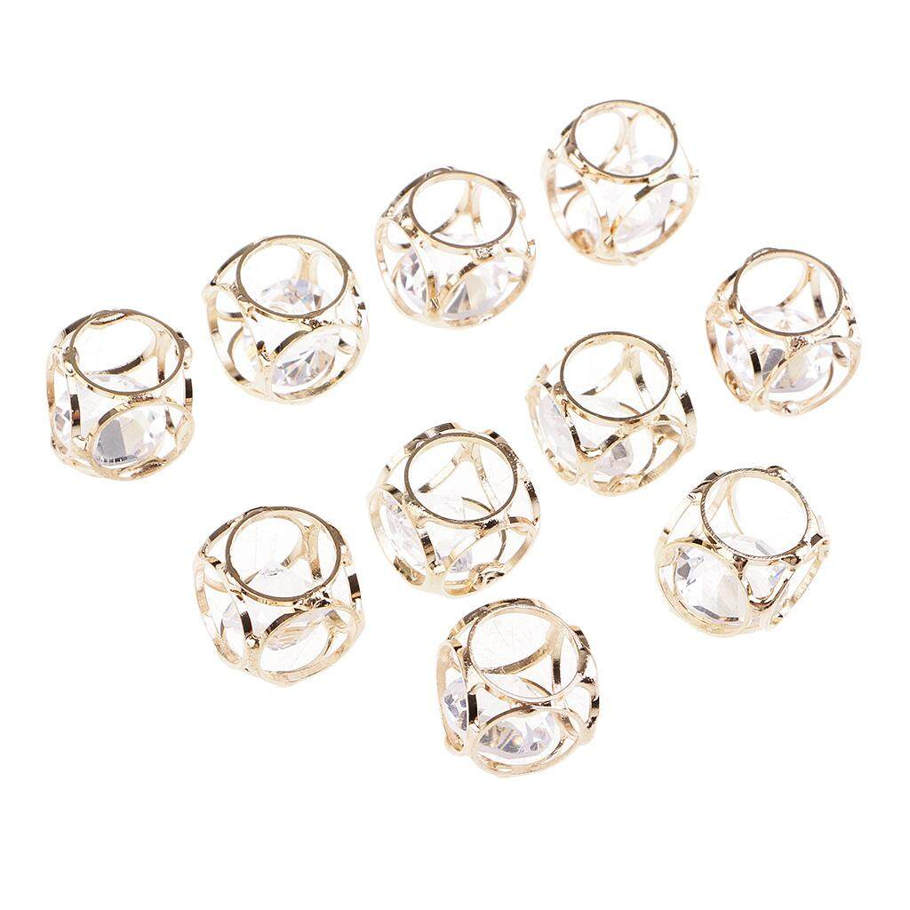 BolehDeals 10 Pieces Glass Crystal Square/ Polygon Beads Charms Pendants for DIY Necklace Earrings Bracelet Handcraft Jewelry Making