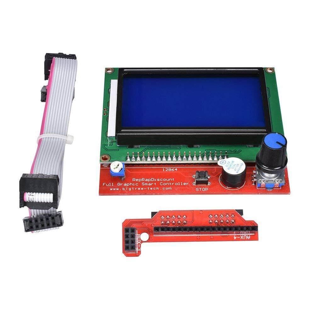 BR 12864 Layar LCD Pengendali Cerdas dengan Adaptor untuk Menggenjot 1.4 RepRap Guru 3D Printer Spesifikasi: TE645
