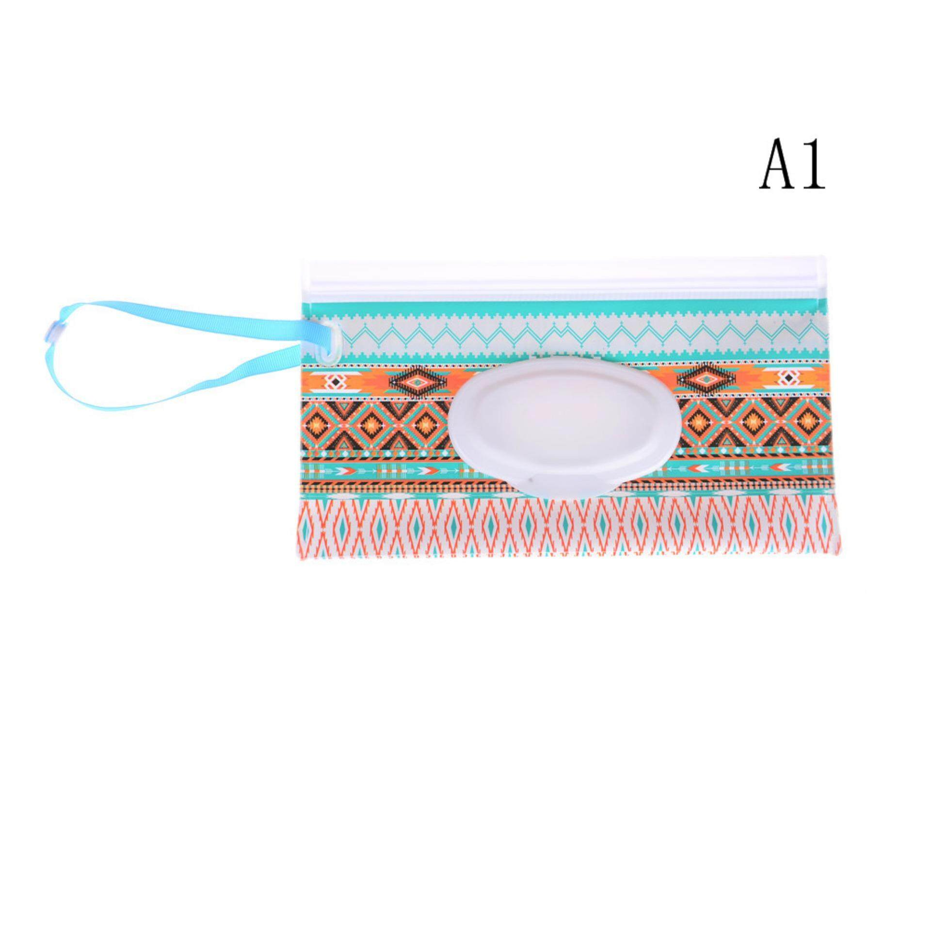 Wipes Carrying Case Eco-Friendly Wet Wipes Bag Clamshell Cosmetic Pouch By A Mango.