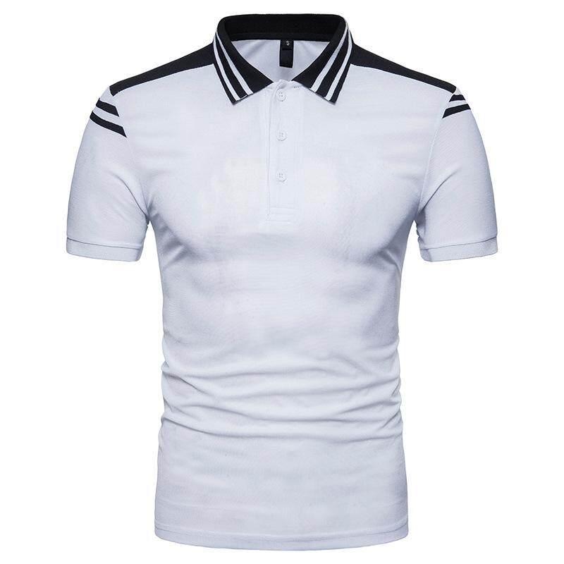 New POLO Shirt Men Casual Splicing Short sleeved T-shirt - intl