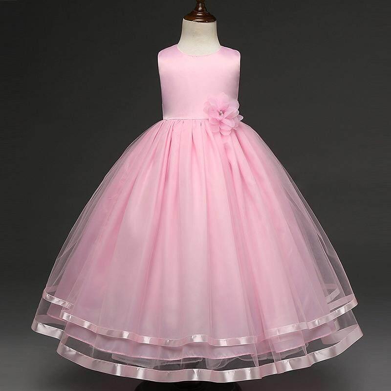 Baby Girl Kids Floral Dress Princess Flower Tutu Dresses for Wedding Party Events Wear - intl