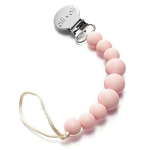 Modern Klip Dot untuk Bayi-100% Silikon Bebas BPA Tumbuh Gigi Manik-manik-Pink Pastel Warna 2-In-1 Binky pemegang untuk Bayi Bayi Baru Lahir Shower Hadiah-Teether Mainan-Kecocokan Universal Mam-Philips AVENT-Intl